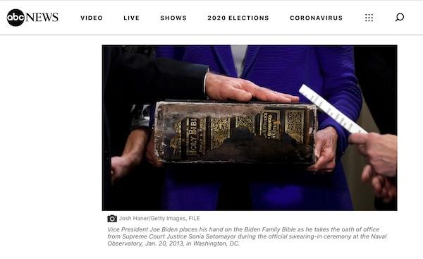 Joe Biden Jesuit Bible