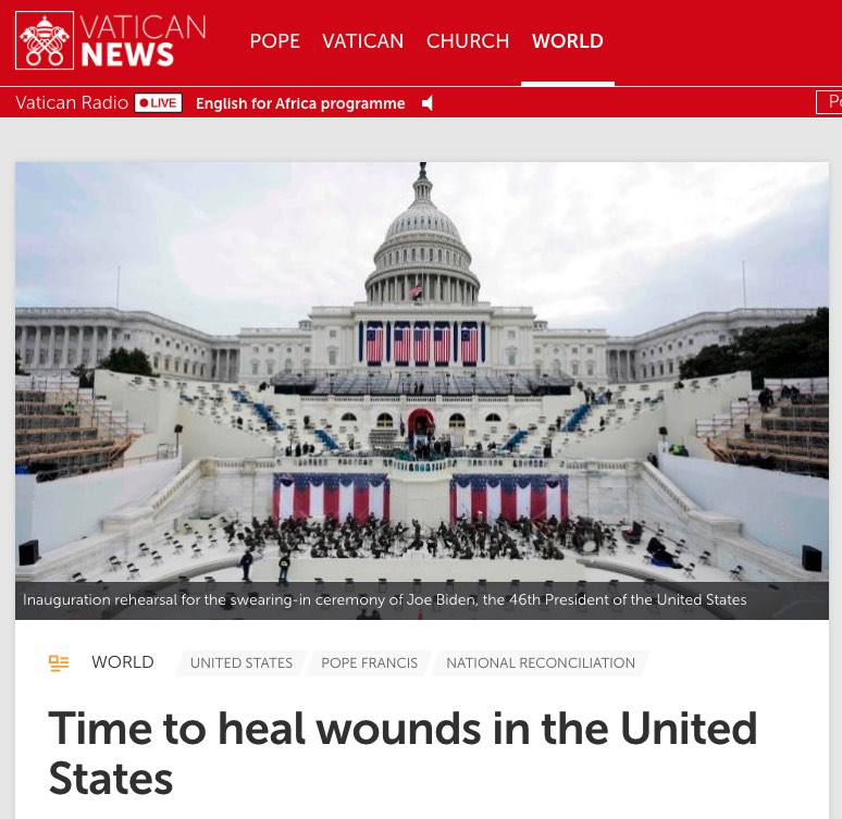 Pope - Time to Heal Wounds