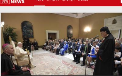 El Papa a legisladores Católicos: Difundan leyes basadas en las enseñanzas de la Iglesia